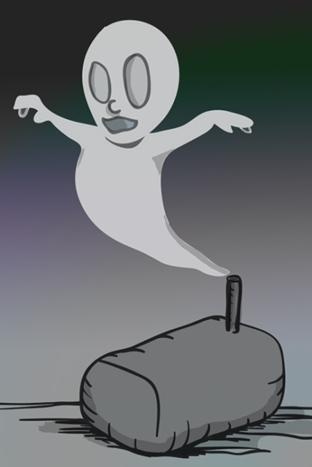 Ghost of the empty oil can