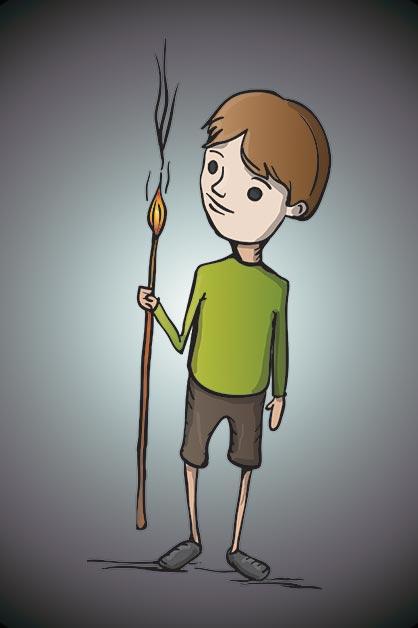 Fire on a stick