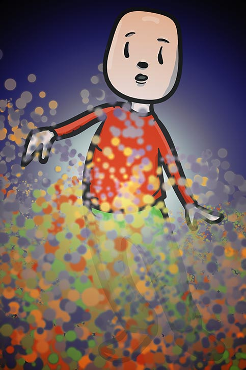In a dream of colored dots
