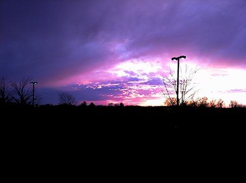 Urban eveing sky