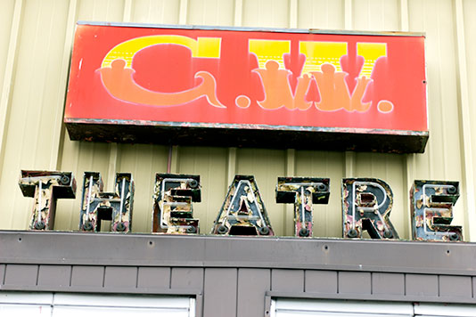 CW Theater sign