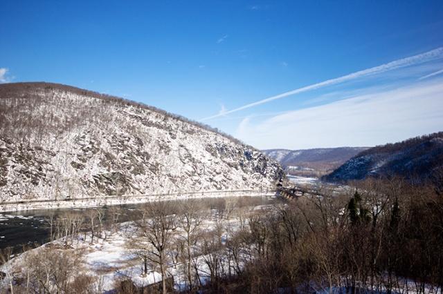 Hilltop over look in the winter