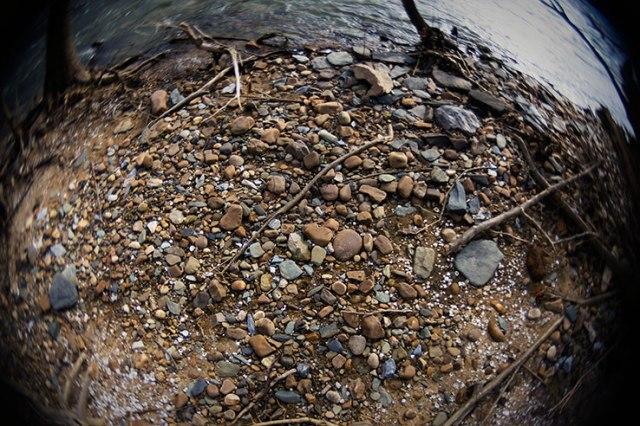 Fisheye River and Rocks