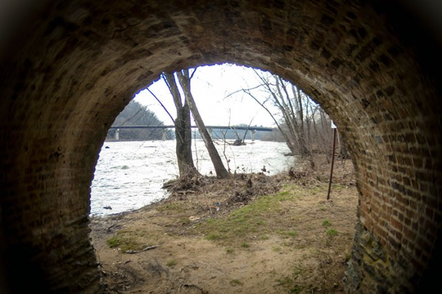 Fisheye under a bridge