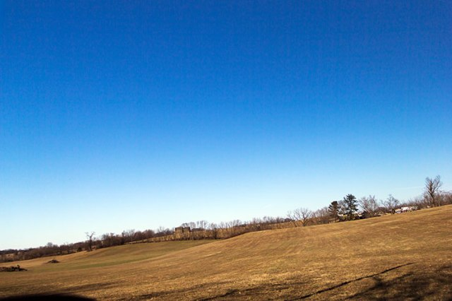 Open field and sky